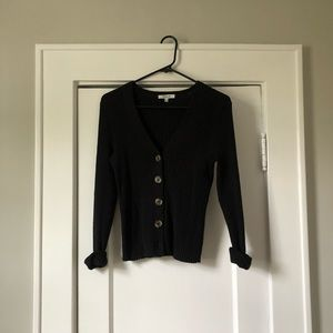 Button front sweater cardigan